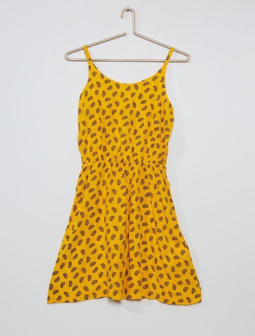 Robe imprimée dos fantaisie                                                                             jaune