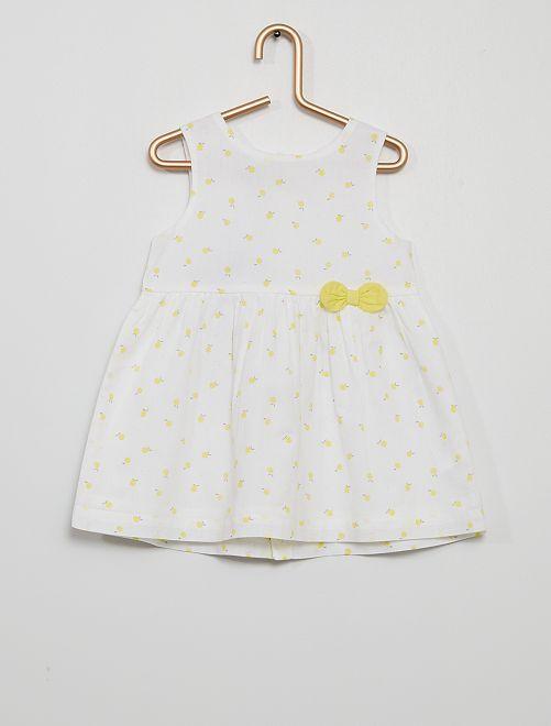 Robe imprimée éco-conçu                                                                                                                             jaune
