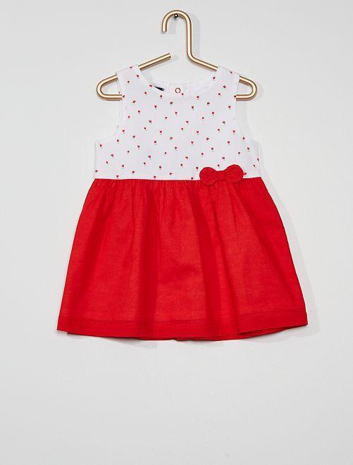 Robe imprimée éco-conçu                                                                                                                             rouge