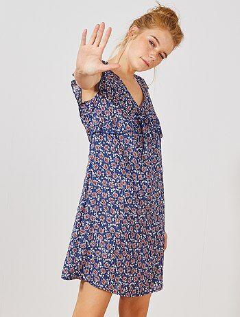 0d7d9a937e Femme du 34 au 48 - Robe imprimée en viscose - Kiabi