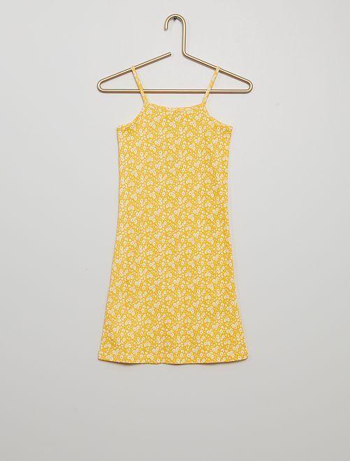 Robe imprimée                                                                 jaune doré