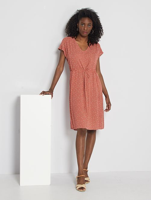Robe 'JDY' imprimée 'pois'                             terracota