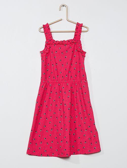 Robe légère imprimée                                                                                         rose