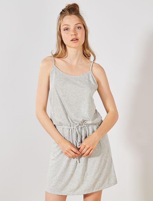 Robe légère unie                                                                                         gris Femme