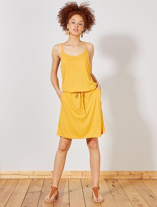 Robe légère unie                                                                                         jaune