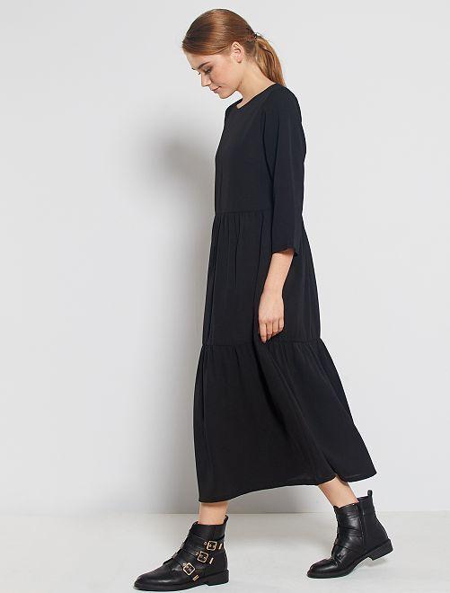 Robe longue à volants                             noir