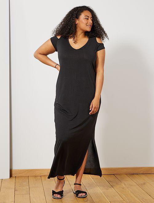 Robe longue avec épaules dénudées                                         noir