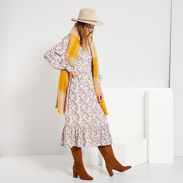 Robe Longue Femme Blanc Kiabi 25 00