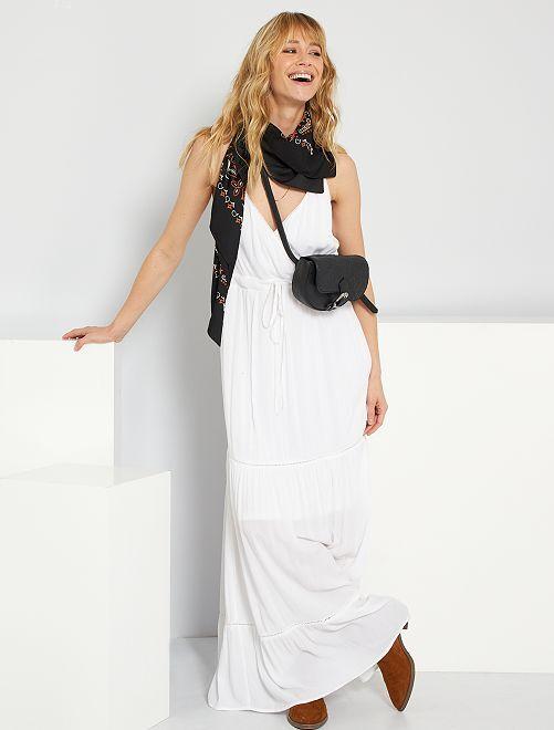 Robe longue blanche                             blanc