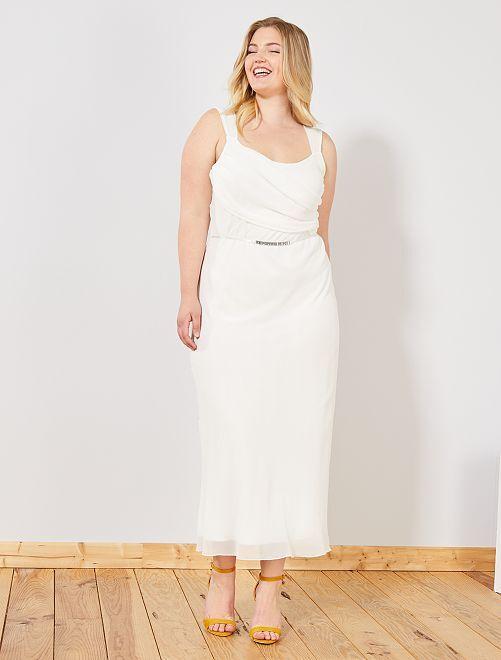 Robe longue de cocktail                                         blanc