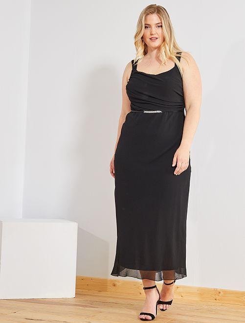 Robe longue de cocktail                             noir Grande taille femme