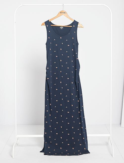 Robe longue de grossesse 'éco-conception'                                                                 bleu marine