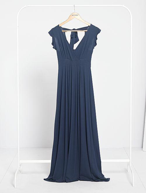 Robe longue de maternité                             bleu marine