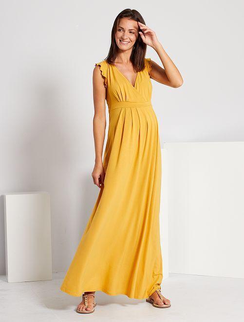Robe longue de maternité                                                     jaune