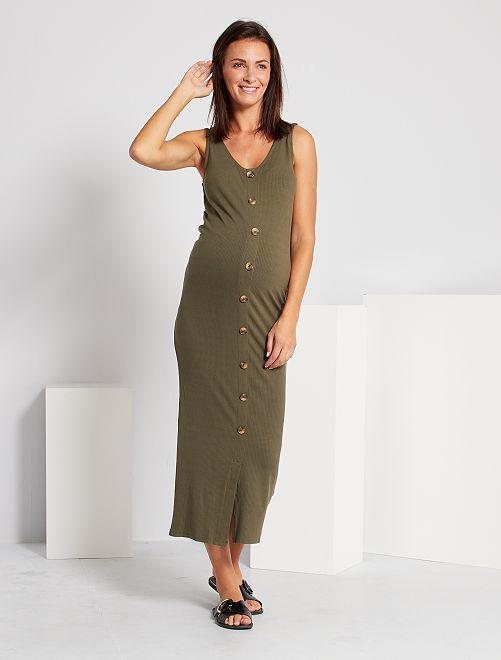 Robe longue de maternité                                         kaki