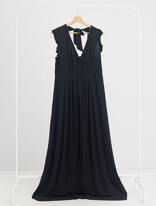 Robe longue de maternité                                         noir