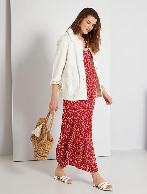 Robe longue de maternité                                                     rouge