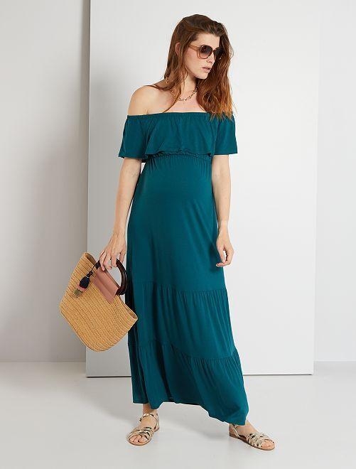 Robe longue de maternité                                         vert