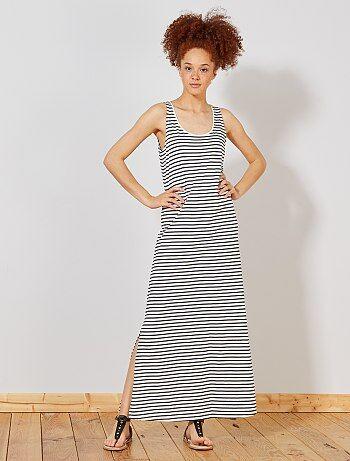 42858cd9638b6 Soldes robe longue : achat de robes fluide, fendue, moulante ou d ...