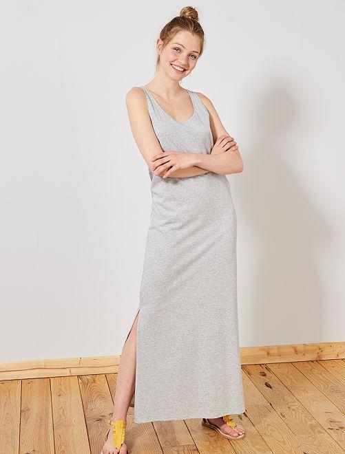 Robe longue débardeur                                                                 gris Femme