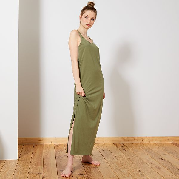 Robe longue débardeur Femme - kaki - Kiabi