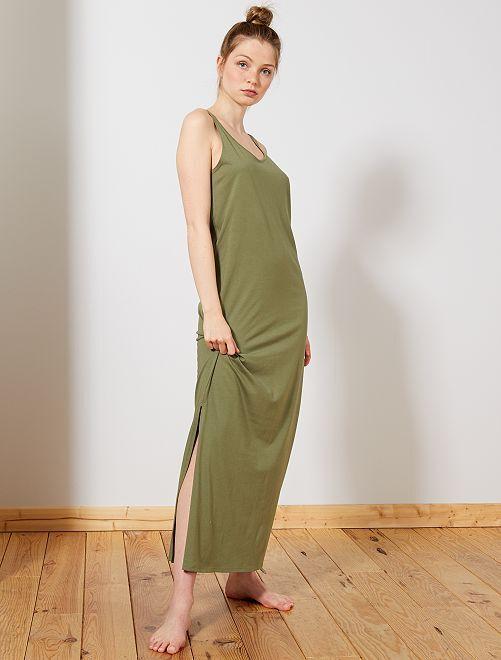 Robe longue débardeur                                                                 kaki Femme