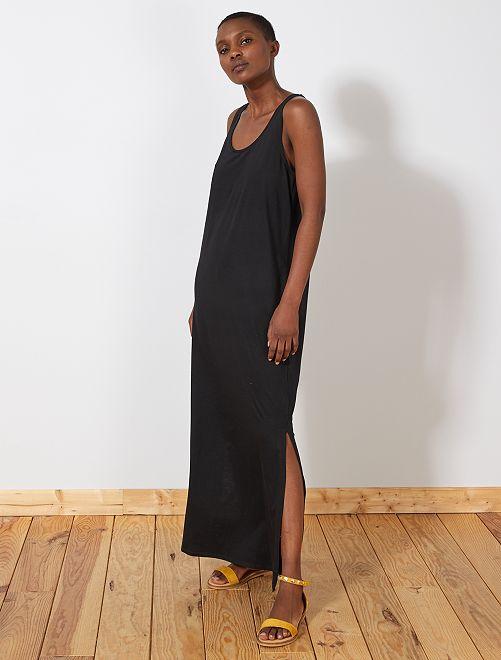 Robe longue débardeur                                                                 noir