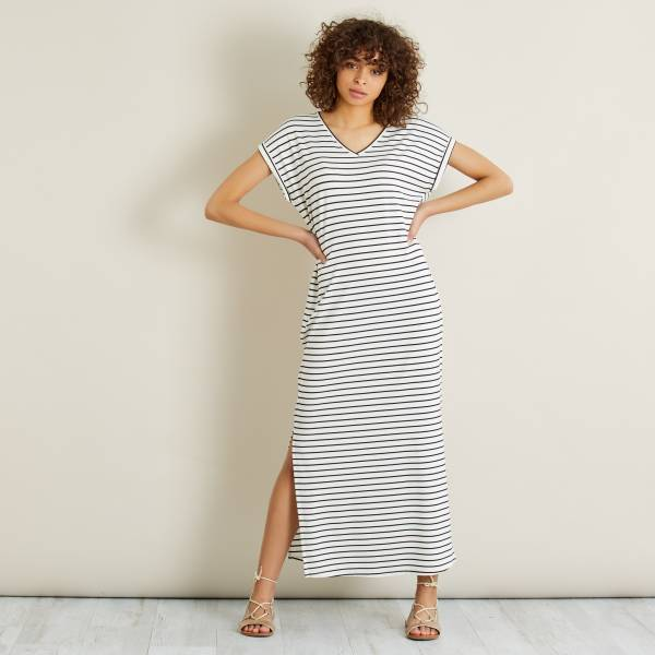 Robe Longue En Maille Jersey Femme Kiabi 15 00