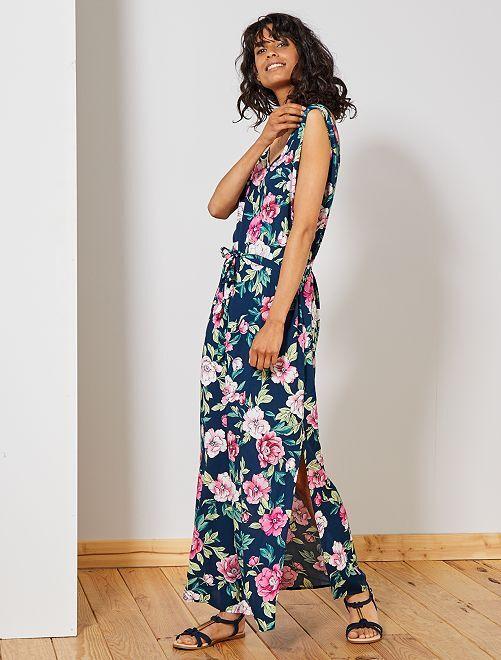 Robe longue fendue 'JDY'                                                     bleu/rose Femme