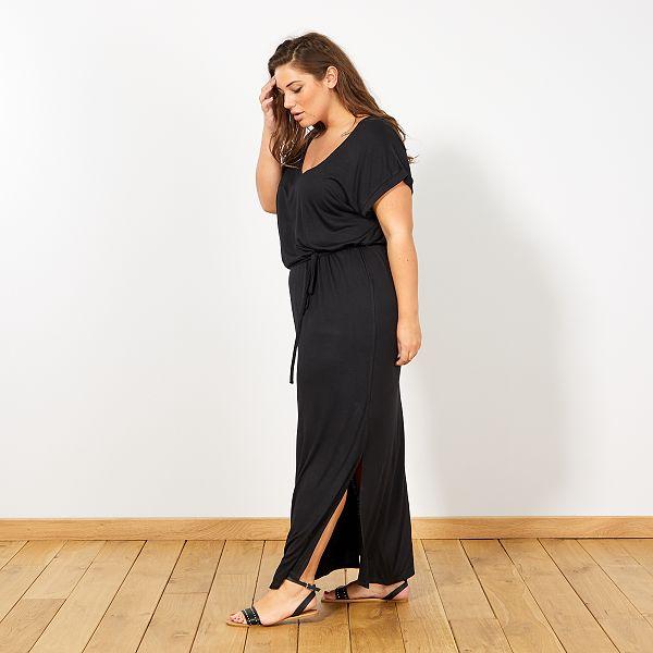 comment chercher sortie en vente Prix 50% Robe longue fendue