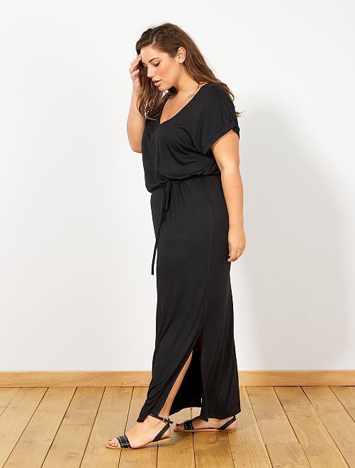 Robe longue fendue                     noir
