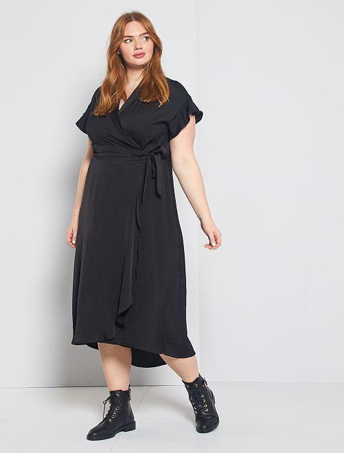 Robe longue fermeture croisée                     noir