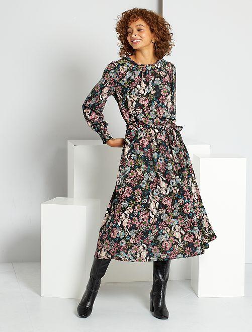 Robe longue fleurie 'JDY'                                         noir