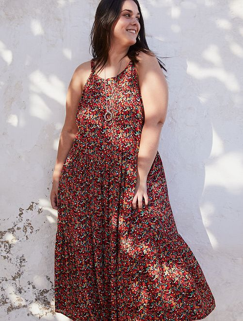 Robe longue fleurie                             multi