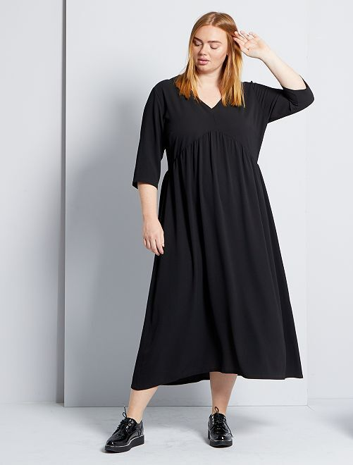 Robe longue fluide                             noir
