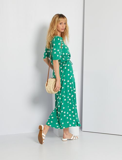 Robe longue fluide                                                                 vert