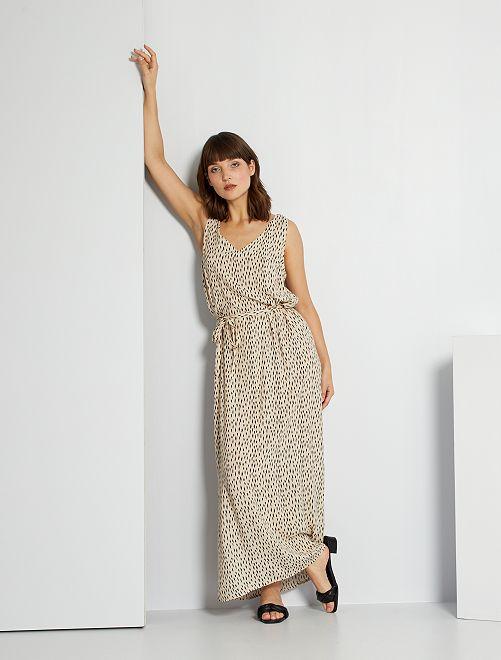 Robe longue imprimée 'JDY'                     beige imprimé