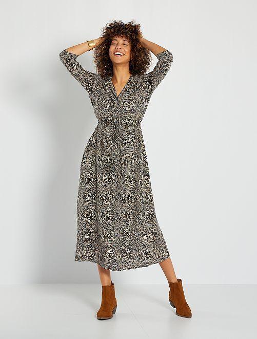 Robe longue imprimée 'JDY'                                                     bleu marine
