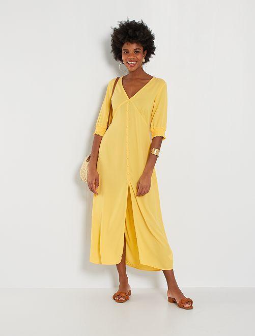 Robe longue                                                     jaune doré