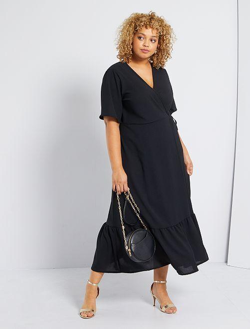 Robe longue portefeuille                             noir