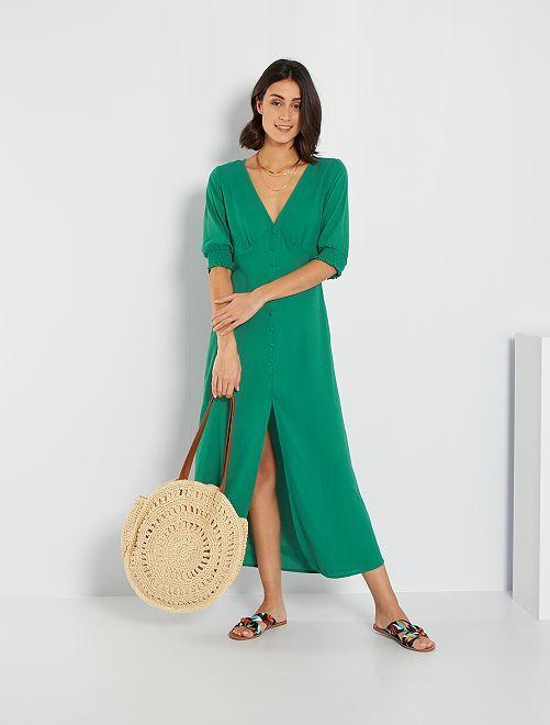 Robe longue                                                     vert pin
