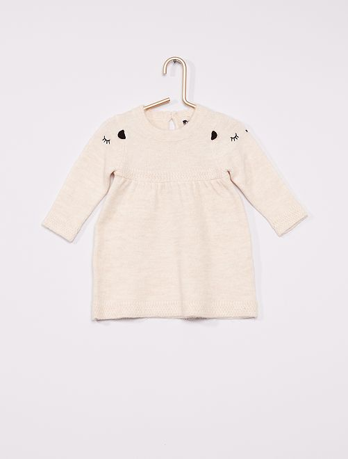 Robe maille tricot                                                     écru