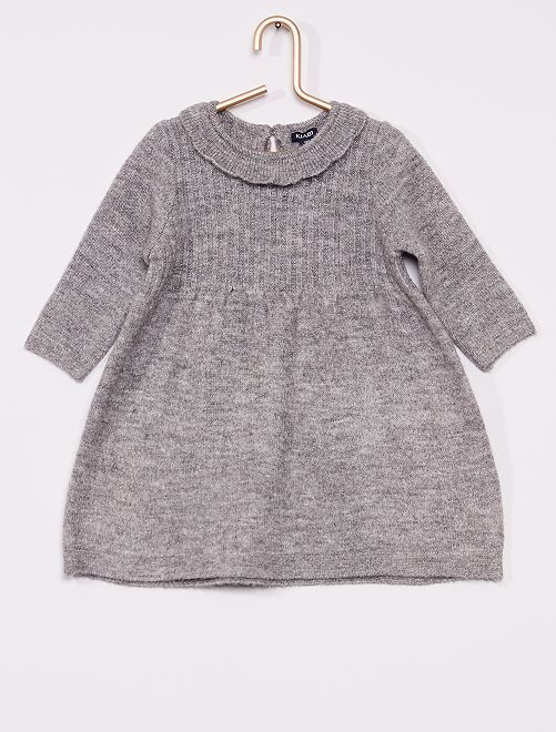 Robe maille tricot                                                     gris