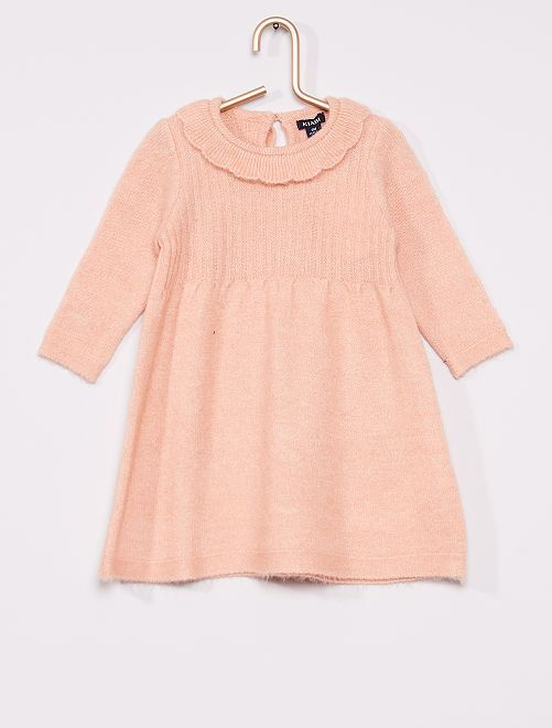 Robe maille tricot                                         rose