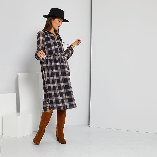 Robe Mi Longue Femme Noir Kiabi 30 00