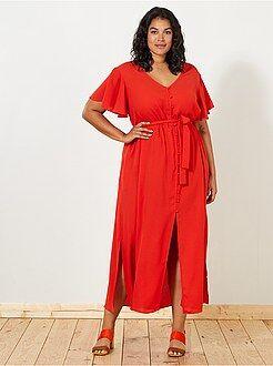 Grande taille femme - Robe midi - Kiabi