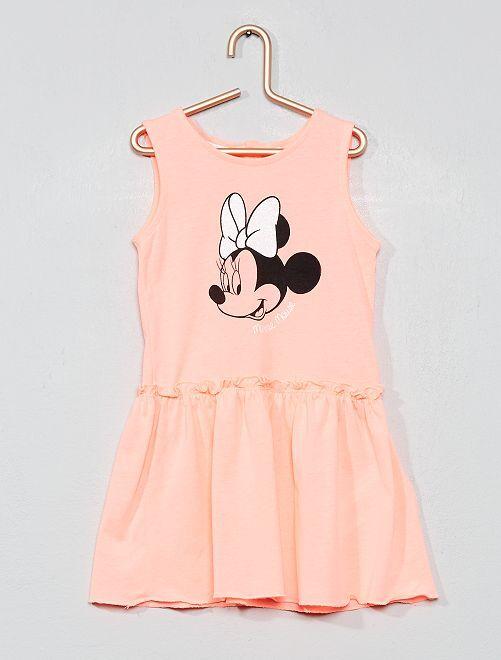 Robe 'Minnie' pailletée                             rose fluo Bébé fille