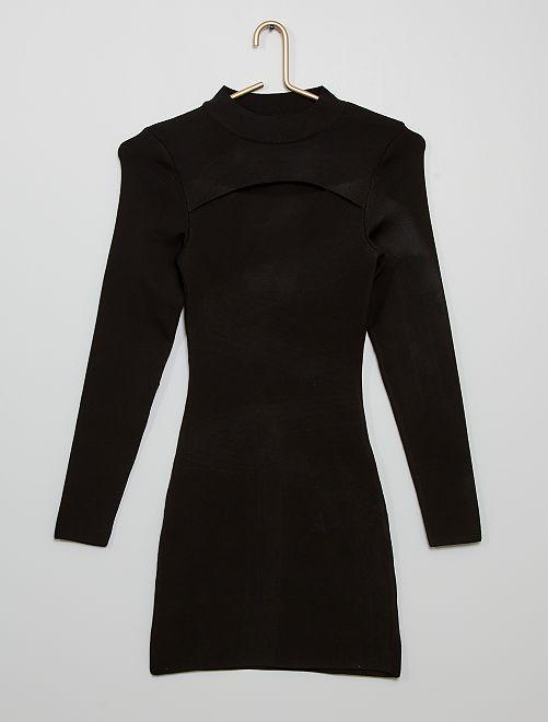 Robe moulante avec ouverture                             noir
