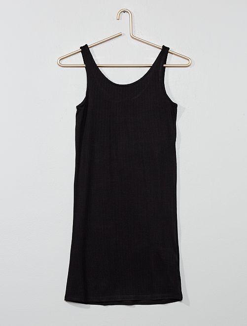 Robe moulante côtelée                     noir