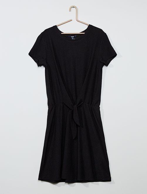 Robe nouée fleurie                                         noir